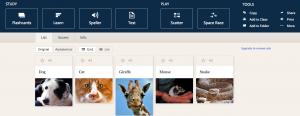 eksempler på ordkort indenfor emnet 'animals'